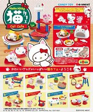 Re-Ment Miniature Sanrio Hello Kitty Cat Cafe Full Set of 8 pcs