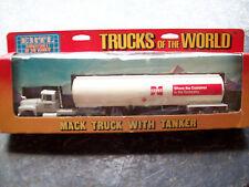 "ERTL #1344 ""TRUCKS OF THE WORLD"" MACK CENEX TANKER TRUCK, DIECAST, VGC"