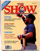 The Show August 1990 MLB Magazine Kirby Puckett Ted Williams MBX74