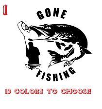 Pike Fishing Vinyl Stickers decals,car,window,van, Laptop (REF NO 1)