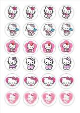 24 Edible cake toppers decorations Hello Kitty 6 design