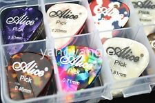 24pcs Alice Pearl Celluloid Acoustic Electric Guitar Picks+1 Plastic Picks Case