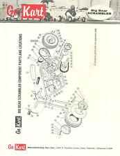 Vintage 1960 Go-Kart Big Bear Scrambler Mini-Bike Catalog Parts & Price List