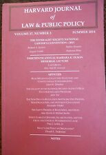 Harvard Journal of Law & Public Policy Vol. 37, No. 3, 2014 new paperback