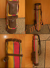 Cowhide Leather Canvas Golf Club Ball Bags Carrying Holder 100% Satisfaction