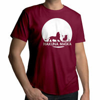 Disney Lion King Hakuna Matata Funny Mens 100% Cotton Unisex Crew Neck T-Shirt