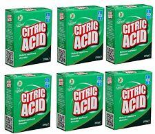 6 x Dri Pak propre et naturel acide citrique 250 G MULTI-UTILISATION APPAREIL éc...