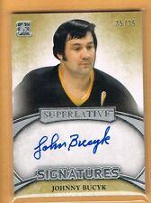 2015-16 ITG Superlative Johnny Bucyk Autograph 35/35 Boston Bruins