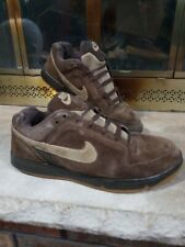 Vintage Nike SB Brown Suede LEATHER SKATEBOARD SHOES 314235-221 Mens 11 2007