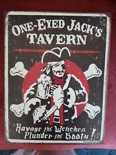 "15.5"" x 12.5"" (Distressed) Tin Sign ~ 'One-Eyed Jack'S Tavern'"