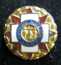 National Auxiliary United Spanish War Veterans Sterling Silver USWV Lapel Pin