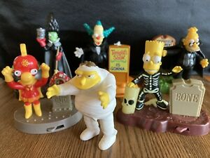 The Simpsons TREEHOUSE OF HORROR Halloween Burger King Kids' Meal Playset 2001