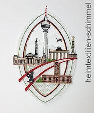 PLAUENER SPITZE ® Fensterbild BERLIN Fensterdekoration BERLINER FERNSEHTURM Deko
