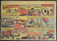 SUPERMAN SUNDAY COMIC STRIP #13 Jan 28, 1940 2/3 FULL Page DC Comics RARE