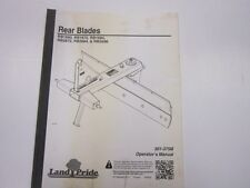 Landpride Rear Blade Operators Manual