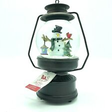 Sleigh Hill Trading Co Musical Lantern Snow Globe Christmas Snow Man Decoration