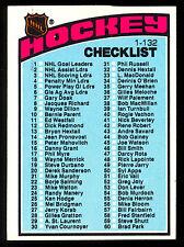 1976 77 TOPPS nhl HOCKEY #116 UNMARKED CHECKLIST NM CARD (1-132)