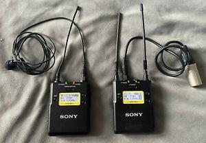 Sony UHF Wireless Set-UTX-B03 Belt Pack / URX-P03 Portable Receiver and lavalier