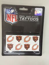 C2) Chicago Bears Team Tattoo Pack NFL New Free Shipping