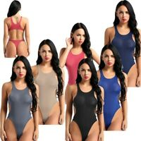 Women's Sleeveless Bikini High Cut Thong Monokini Bodysuit Swiwmear Bathing Suit