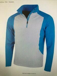 Proquip Mens  Tornado Fleece Golf Jacket Lt Grey / Blue size XXL