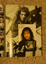 Metallica signed 5 times concert in person CAR PASS Monster Rock Wherever Roam