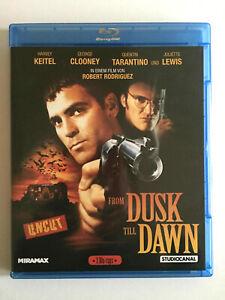 From Dusk Till Dawn Uncut Bluray Horror Quentin Tarantino Clooney Keitel Hayek