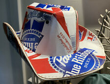 PABST PBR Cowboy Cowgirl HAT Beer Box Cardboard