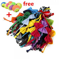 50 Pcs Dog Cat Bow Tie Adjustable Necktie Collar Bowtie Pet Random Colors LOT