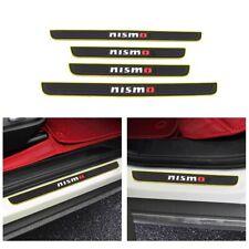 NISMO Yellow Border Rubber Car Door Scuff Sill Cover Panel Step Protector