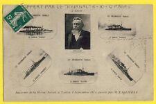 cpa TOULON REVUE NATIONALE 1911 Cuirassés Président FALLIÈRES FRENCH BATTLESHIP