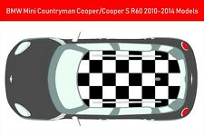 Brand New Custom Roof BMW Mini Countryman Cooper S R60 Stickers Vinyl Decals