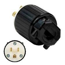 15 Amp, 125 Volt Nema L5-15P, 3P, Locking Plug, Industrial Grade, Grounding