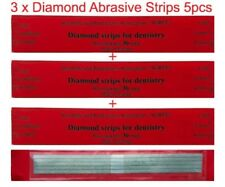 Dental Abrasive Diamond STAINLESS STEEL Strips finishing polishing Coarse 3x5pcs