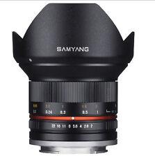 Samyang 12mm F2.0 NCS CS Nano MC APSC Angle Lens for Fuji X - Black