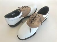 SoftJoys Terrain Ivory Golf Shoes Soft Spikes Women's 7.5 98308 New