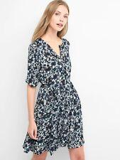 NWT Gap Paisley swing shirtdress, Navy print SIZE S             #834202 E28