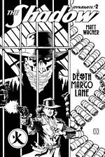 The Shadow: Death of Margo Lane #2 B&W Incentive Variant, NM 9.4, 1st Print