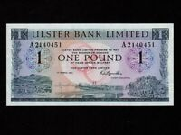 Northern Ireland:P-325b,1 Pound,1973 * Ulster Bank * UNC *