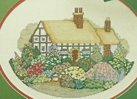English Cottage Cross Stitch Pattern Chart from a magazine Spring flowers