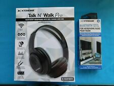 XTREME TALK N' WALK PRO BLUETOOTH HEADPHONES~MIC~HEADPHONE ADAPTER KIT~NEW