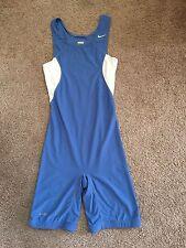 NIKE Speedsuit, light blue and white, S, wrestling singlet