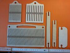 3 Webkamm 30, 12, 8 Steg HANDWEBEN Schlitze 1  1,5 2,5mm 3 Webschiffchen