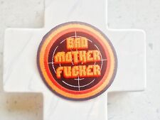 Bad Mother Round Orange Target Quote Saying  Embroidered Iron On Patches Patch