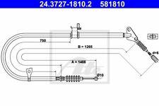NEU ORIGINAL ATE Handbremsseil Bremsseil Mazda 323 ua. Bj.89-94 24.3727-1810.2