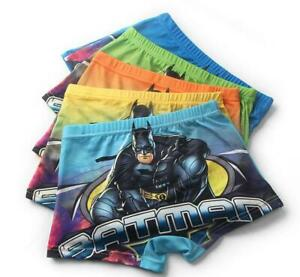 New 5pcs batman cartoon Children boy underwear Boxer shorts kids gifts
