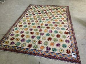 H41028 Handknotted Wool Persian Rug New Hashtags 206x292