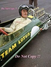 Graham Hill Lotus 49, primo test 1967 fotografia 2