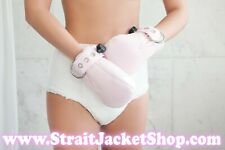 Pink Soft Fleece ABDL Safety Mittens with Segufix Locks