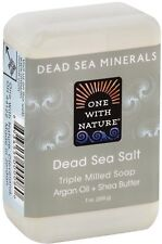 Dead Sea Mineral Bar Soap, One With Nature, 7 oz Sea Salt